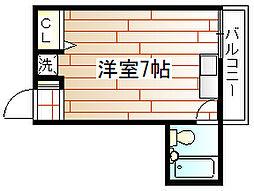 スムーノ上新庄[3階]の間取り