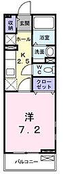 埼玉県草加市神明2の賃貸アパートの間取り