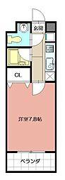 北口幹線ビル[501号室]の間取り