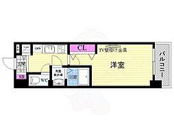JR東海道・山陽本線 西大路駅 徒歩10分の賃貸マンション 1階1Kの間取り