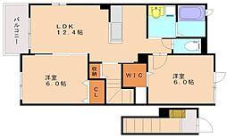 ネオ・ウィステリアA棟[2階]の間取り