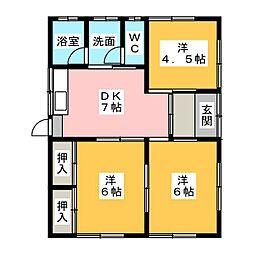 [一戸建] 静岡県富士宮市粟倉南町 の賃貸【静岡県 / 富士宮市】の間取り
