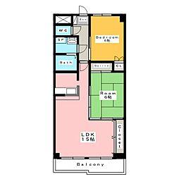 バトーアントレ[2階]の間取り