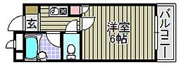 ドミール小松里[302号室]の間取り