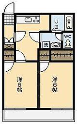 フォーブル祇園[102号室]の間取り