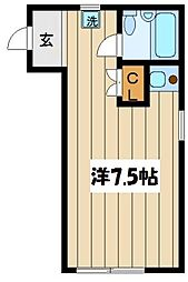 東京都新宿区上落合3丁目の賃貸アパートの間取り