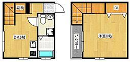 リーブル諏訪野[2階]の間取り