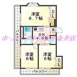エトワール栄[2階]の間取り