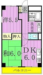 青木マンション[402号室]の間取り