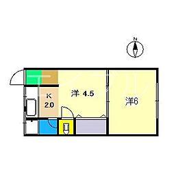 メイポールI[1階]の間取り