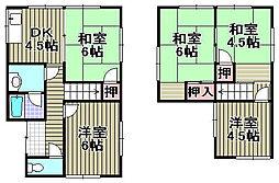 [一戸建] 大阪府泉佐野市泉ケ丘3丁目 の賃貸【/】の間取り