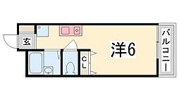 ユニックス神戸西[108号室]の間取り