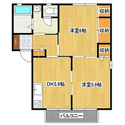 メゾン・ドゥ・けやき台[2階]の間取り