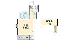 福岡県福岡市西区今宿1丁目の賃貸アパートの間取り