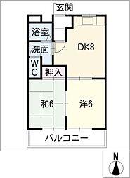 イーストオブパーク黒田[1階]の間取り
