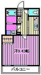 ゼフィールARAI[206号室]の間取り
