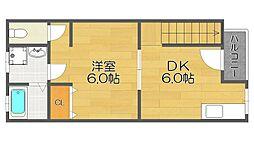 ハイツ加賀[2階]の間取り