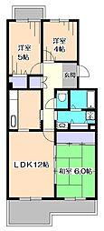 コーポレート東伏見12号棟[4階]の間取り