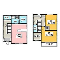 [一戸建] 栃木県宇都宮市石井町 の賃貸【/】の間取り