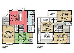 [一戸建] 千葉県千葉市若葉区貝塚2丁目 の賃貸【/】の間取り
