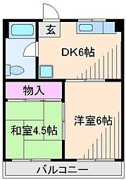 神奈川県横浜市鶴見区駒岡4丁目の賃貸マンションの間取り