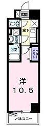 神奈川県川崎市川崎区追分町の賃貸マンションの間取り