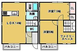 [タウンハウス] 三重県鈴鹿市南若松町 の賃貸【/】の間取り