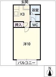 ローズII[2階]の間取り