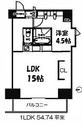 SK TOWER心斎橋EAST[15階]の間取り