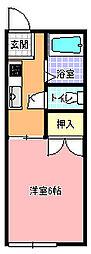 エムワンコーポ[102号室]の間取り