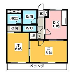 メゾンTK[2階]の間取り