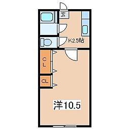 パールハイツ[105号室]の間取り