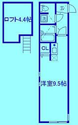 リヴェール武蔵新城[1階]の間取り