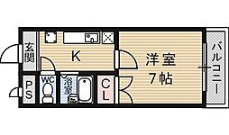 クレール山陵[303号室号室]の間取り