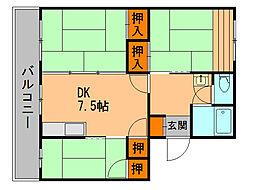 カヤシマコーポ[5階]の間取り