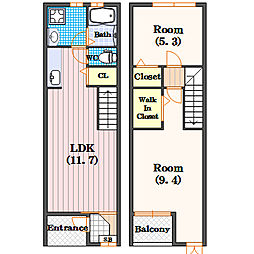 オリーベンハウス[1階]の間取り