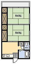 別府アパート[7号室]の間取り