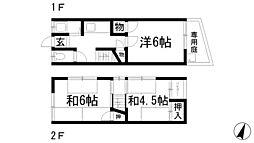 [テラスハウス] 兵庫県宝塚市亀井町 の賃貸【/】の間取り