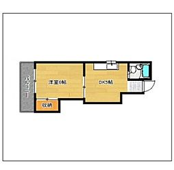 SEITO BUILD 西新[5階]の間取り