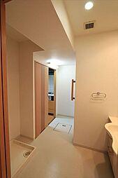 ゆとりの洗面スペースで朝の身支度もスムーズ家事動線を考えて、洗面室・キッチン間の移動もラクラク(2018年4月23日撮影)