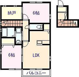 ネクスト吉村II[2階]の間取り