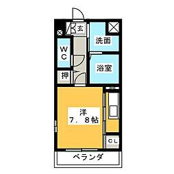 コムフォート小田井[4階]の間取り