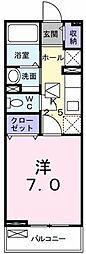 埼玉県川口市新井町の賃貸アパートの間取り