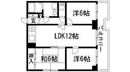 宝塚シャンテリーハイツ[2階]の間取り