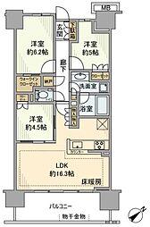 クラッシィハウス湘南藤沢[3階]の間取り
