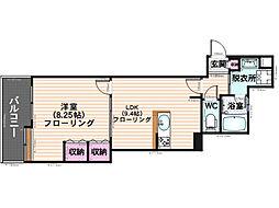 KT玉川[4階]の間取り