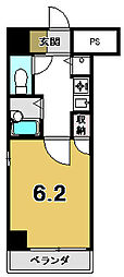 リーガル京都御所西[703号室]の間取り