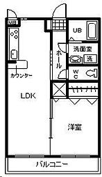 ピュアハイツ杜[402号室]の間取り
