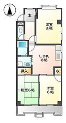 第一山田ビル[2階]の間取り