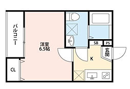 東京都町田市金森東1丁目の賃貸アパートの間取り